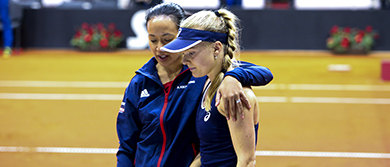 Anne Keothavong and Harriet Dart
