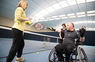 Disability tennis at the National Tennis Centre