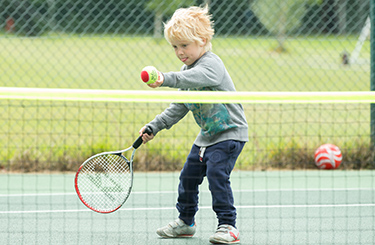 Child plays at a Great British Tennis Weekend event
