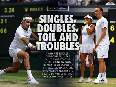 #ACE Magazine delves into the differences between singles and doubles in tennis