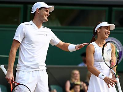 Jamie Murray and Martina Hingis played mixed doubles at The Championships, Wimbledon