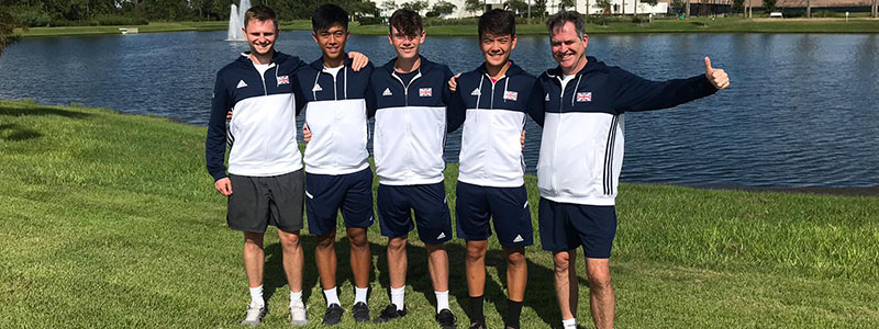 GB Junior Davis Cup team in Orlando