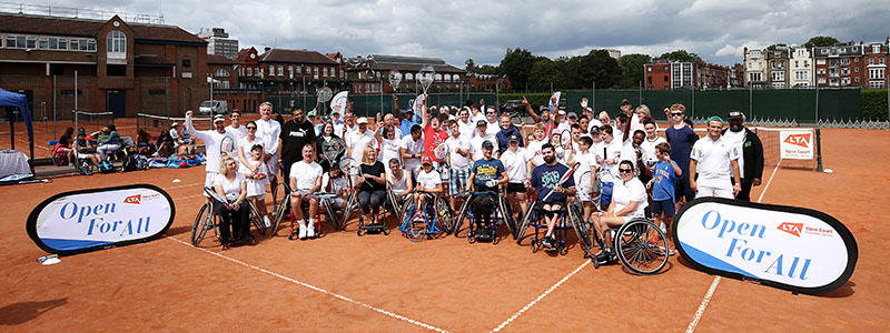 Inclusive tennis festival proves a hit with youngsters across the capital
