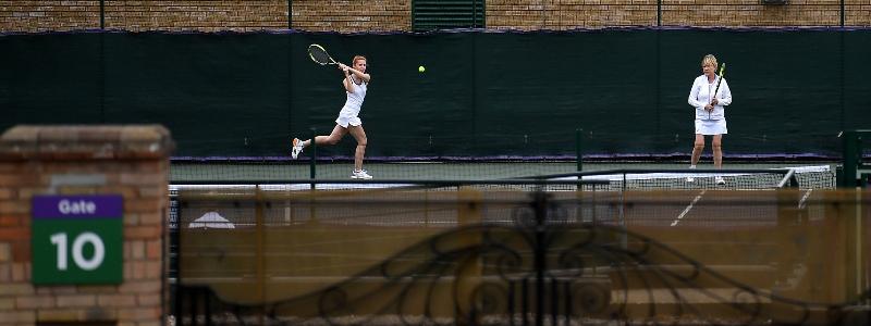 Wimbledon members play in 2020
