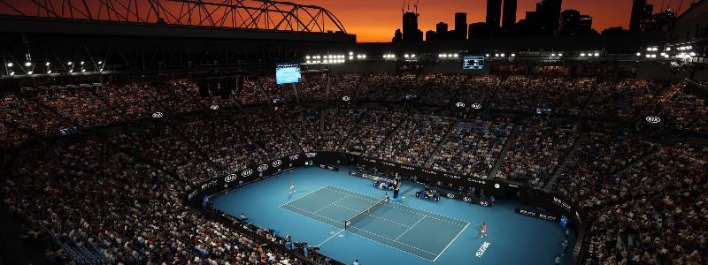 Fans attend the Australian Open in 2020