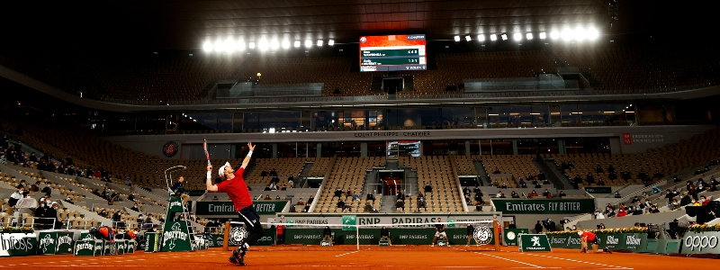 Andy Murray competes at Roland Garros in 2020