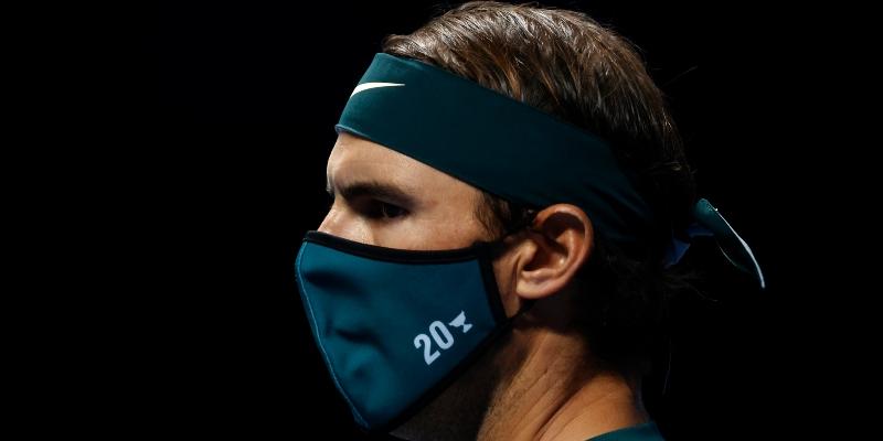 Rafa Nadal wears a face mask in London