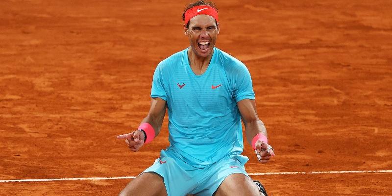 Rafael Nadal after winning his 20th Grand Slam title