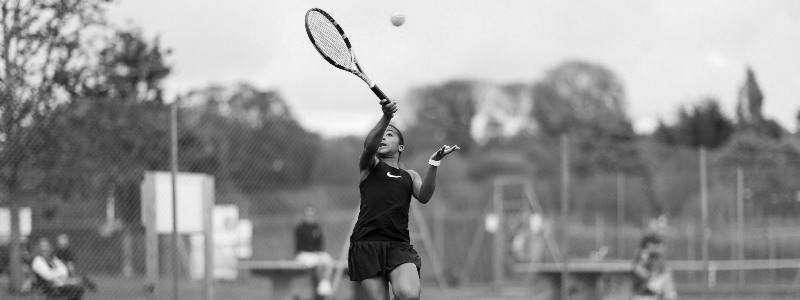 A young girl competes at the Fred Perry Championships