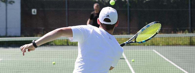 Tennis is a socially distanced sport