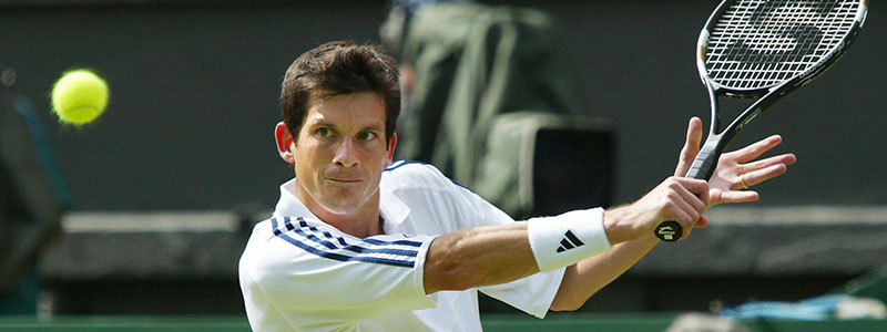 Tim Henman in action