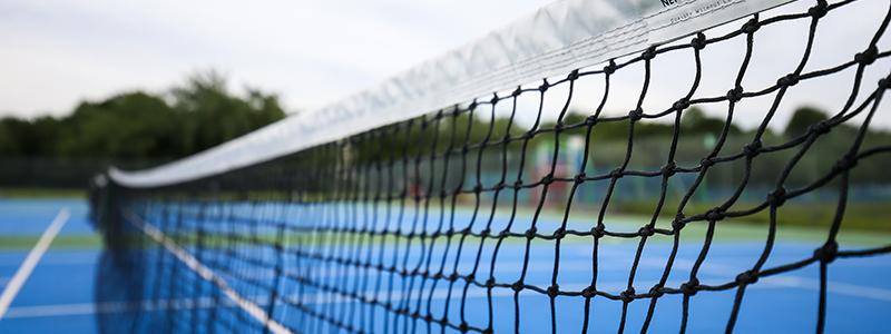 Tennis net - a natural barrier