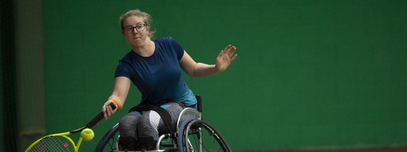 Abbie Breakwell in action