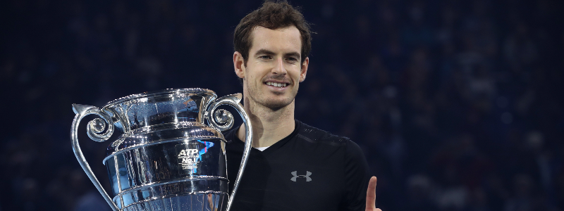 Andy Murray after winning the ATP Tour final in 2016