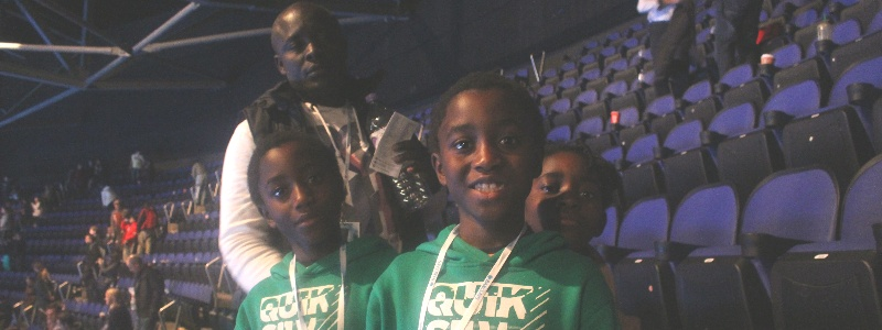 Annis Frimpong and family at ATP FIinals