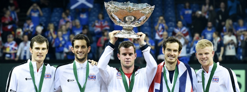 The Great Britain team after winning the 2015 Davis Cup