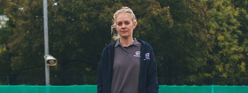 Becky Davies, cafe manager at Grantham Tennis Club