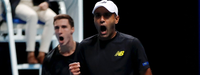 Synchronised screams from Joe Salisbury and Rajeev Ram