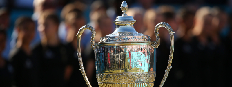 The trophy for the Queen's Club Championships