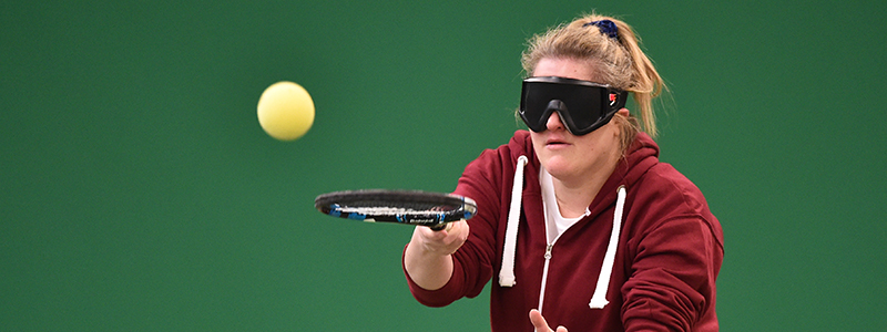 Visually impaired tennis