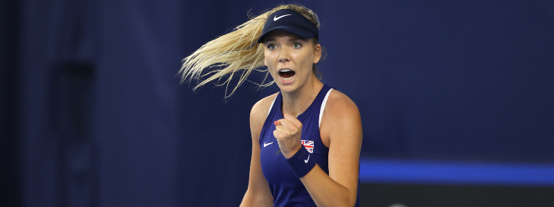 Katie Boulter after beating Marcela Zacarias