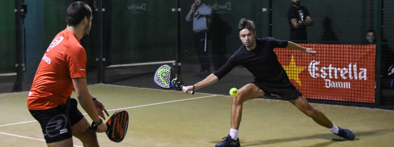 Players compete on the LTA Padel Tour