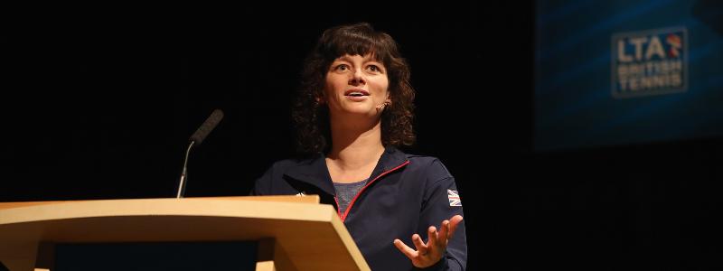 Catherine Fletcher gives a talk