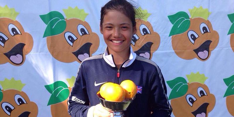 Emma Raducanu Orange Bowl 2014 (credit Bromley TC)