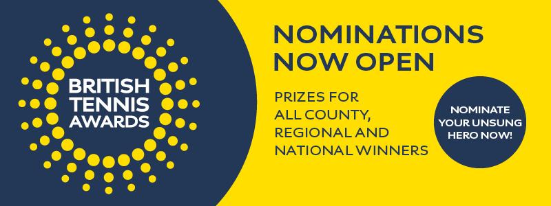 2017 British Tennis Awards - nominate now!