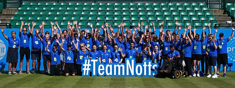 2017 Aegon Open Nottingham Volunteer Team