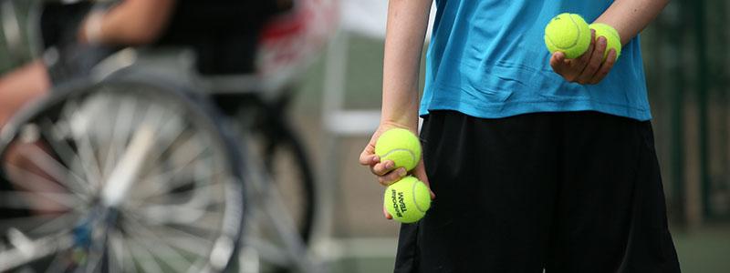 Volunteering in disability tennis