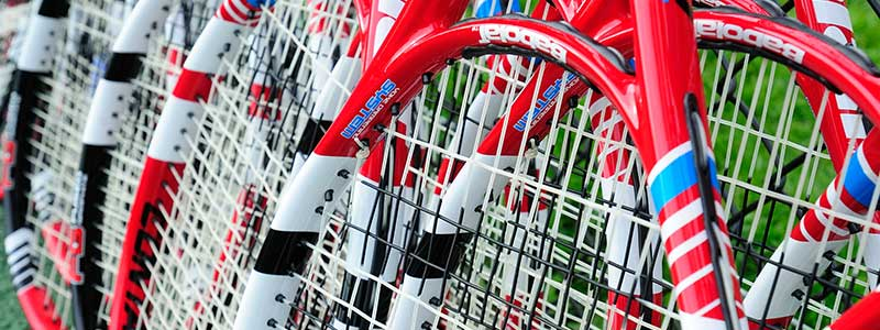 A selection of Babolat tennis rackets