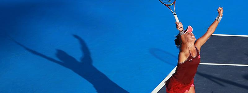 Heather Watson playing tennis