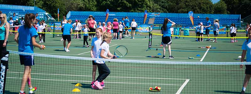 Nottingham Tennis Centre showcases a kids tennis programme