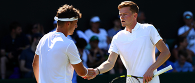 Scott Clayton and Jonny O'Mara at Wimbledon 2017