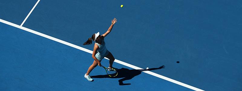 Johanna Konta in action at the Australian Open