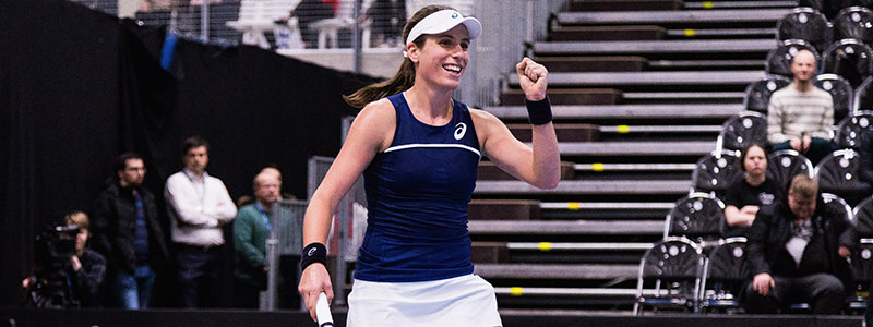 Johanna Konta in Fed Cup action