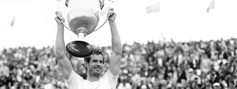 Andy Murray lifts Aegon Championships trophy for the fifth time