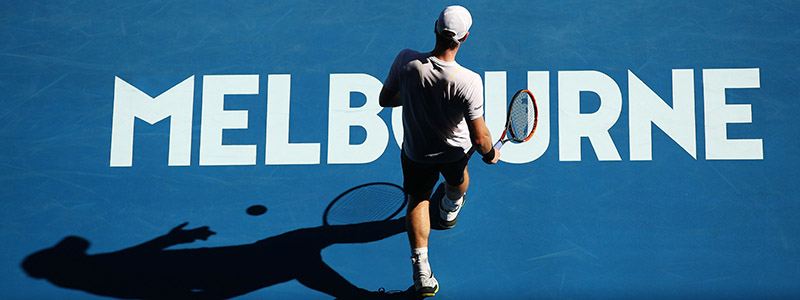 Andy Murray during his first round match at 2017 Australian Open