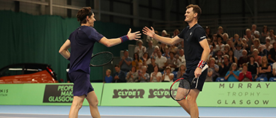 Jamie Murray and John-Patrick Smith reach the semi-finals of the Murray Trophy - Glasgow