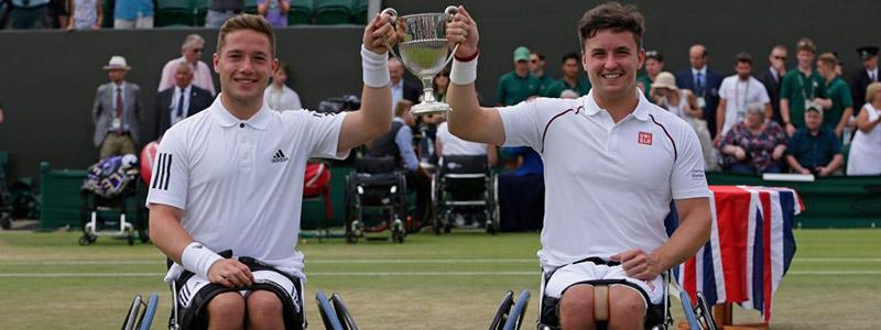 Alfie Hewett and Gordon Reid at Wimbledon