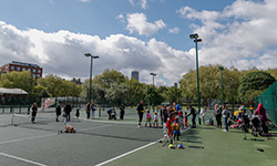 Tennis courts at a venue