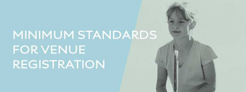 Minimum standards for LTA venue registration